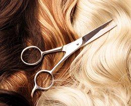 Striženje in barvanje las v frizerskem salonu VStudio